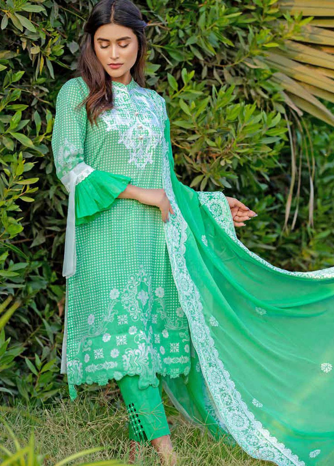 539d39eca6 Monsoon Festivana by Al Zohaib Embroidered Lawn Unstitched 3 Piece Suit  MNF19-L2 6B - Spring / Summer Collection