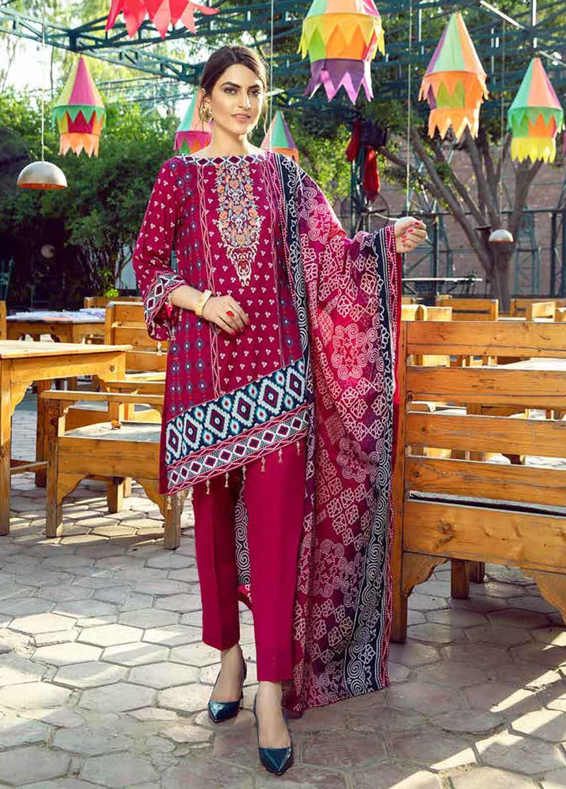 Monsoon by Al Zohaib Printed Lawn Unstitched 3 Piece Suit MN19-L3 10B - Mid Summer Collection