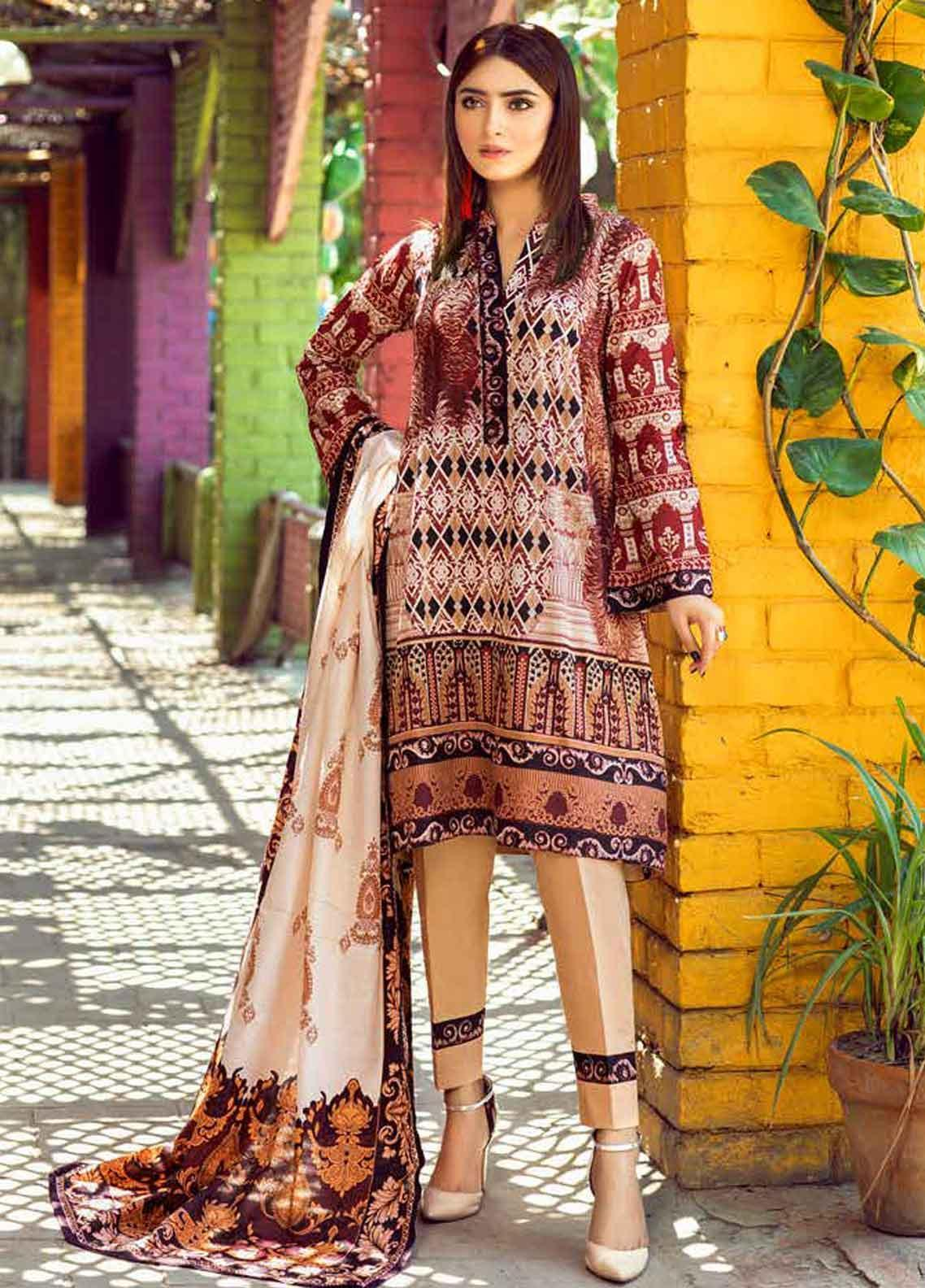 Monsoon by Al Zohaib Printed Lawn Unstitched 3 Piece Suit MN19-L3 1A - Mid Summer Collection