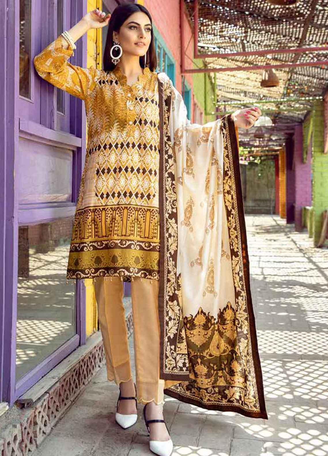 Monsoon by Al Zohaib Printed Lawn Unstitched 3 Piece Suit MN19-L3 1B - Mid Summer Collection