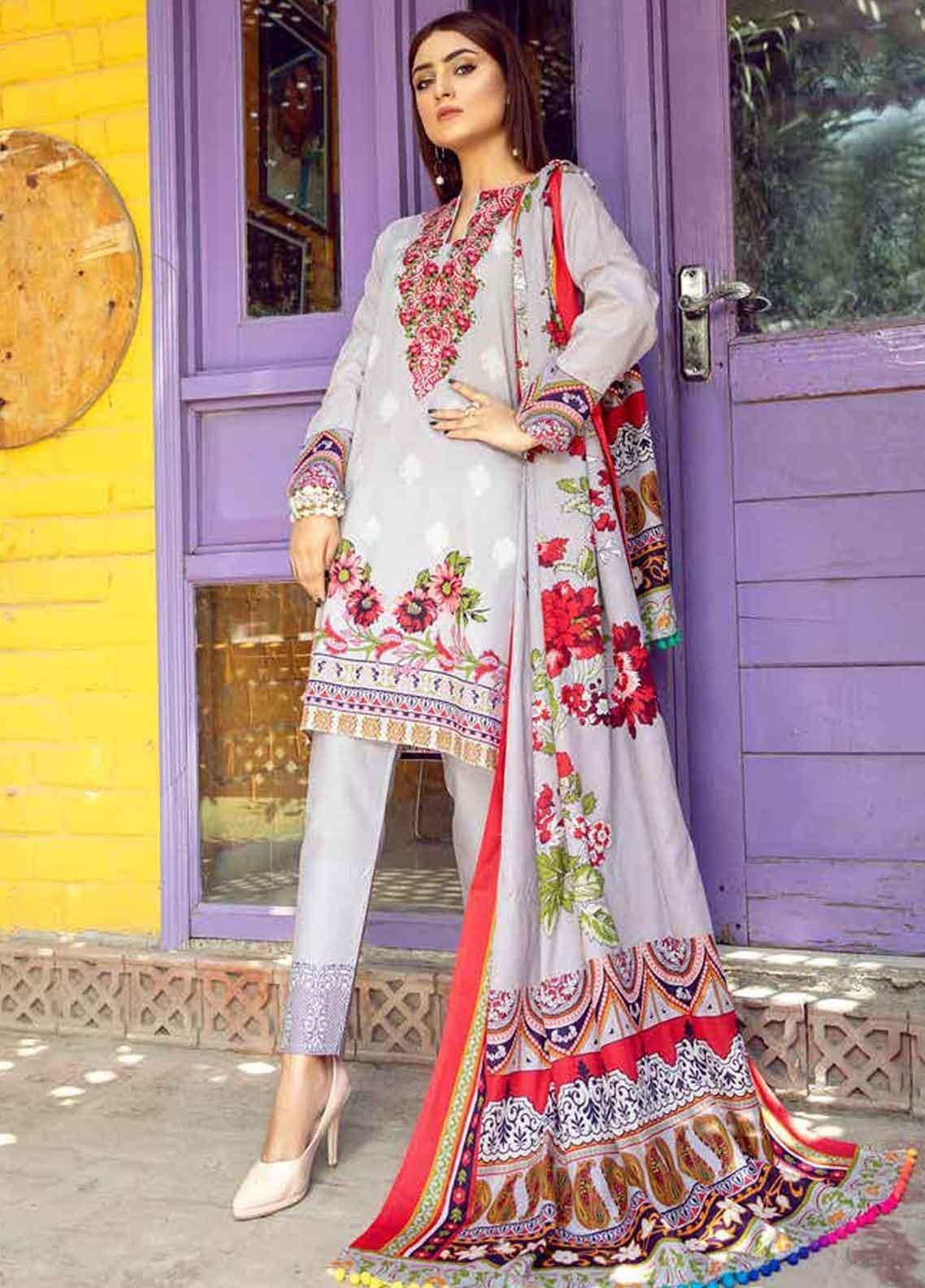 Monsoon by Al Zohaib Printed Lawn Unstitched 3 Piece Suit MN19-L3 2A - Mid Summer Collection