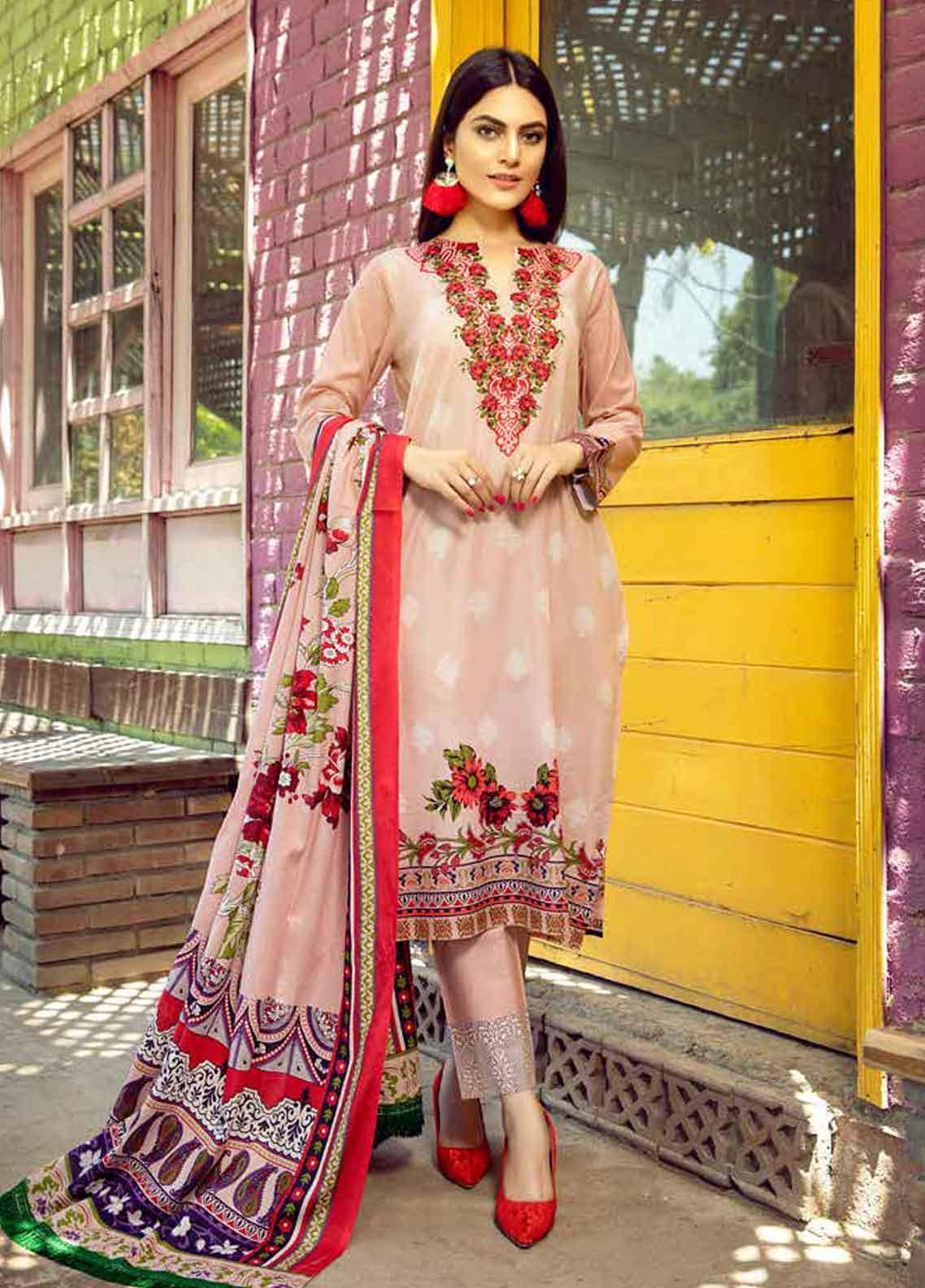 Monsoon by Al Zohaib Printed Lawn Unstitched 3 Piece Suit MN19-L3 2B - Mid Summer Collection