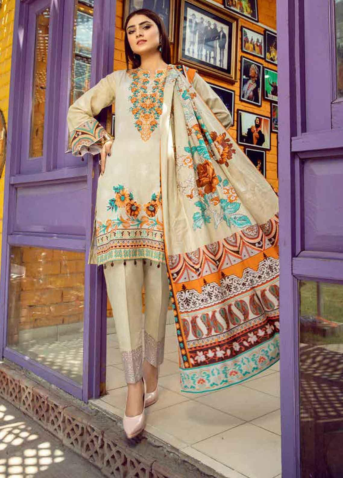 Monsoon by Al Zohaib Printed Lawn Unstitched 3 Piece Suit MN19-L3 2C - Mid Summer Collection