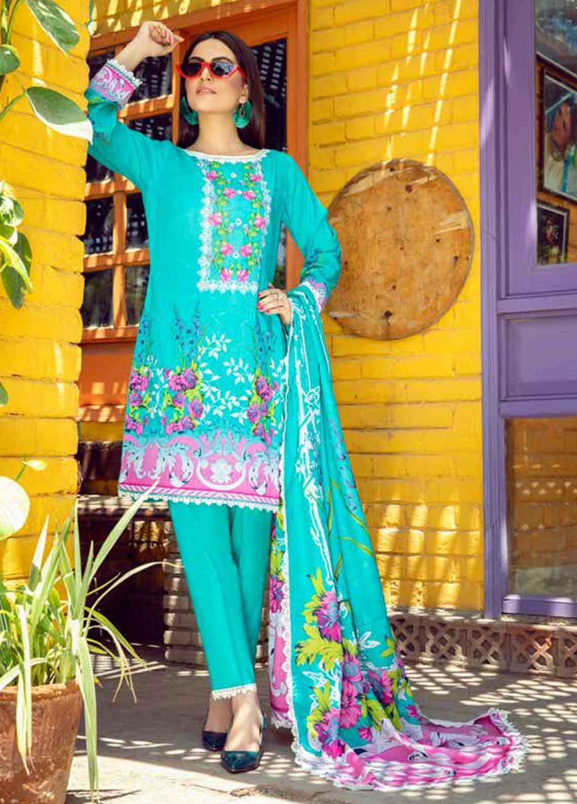 Monsoon by Al Zohaib Printed Lawn Unstitched 3 Piece Suit MN19-L3 3A - Mid Summer Collection