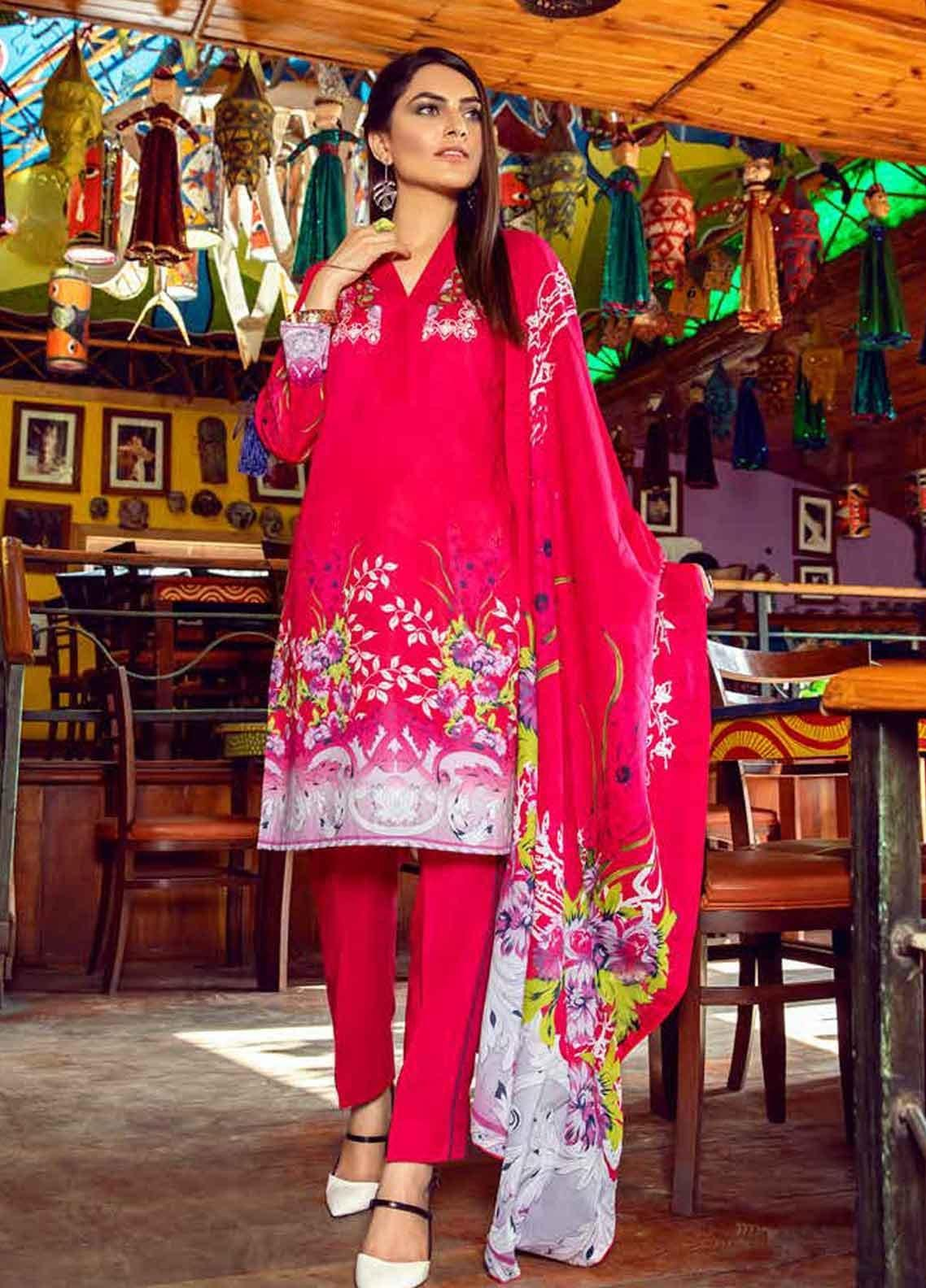 Monsoon by Al Zohaib Printed Lawn Unstitched 3 Piece Suit MN19-L3 3C - Mid Summer Collection