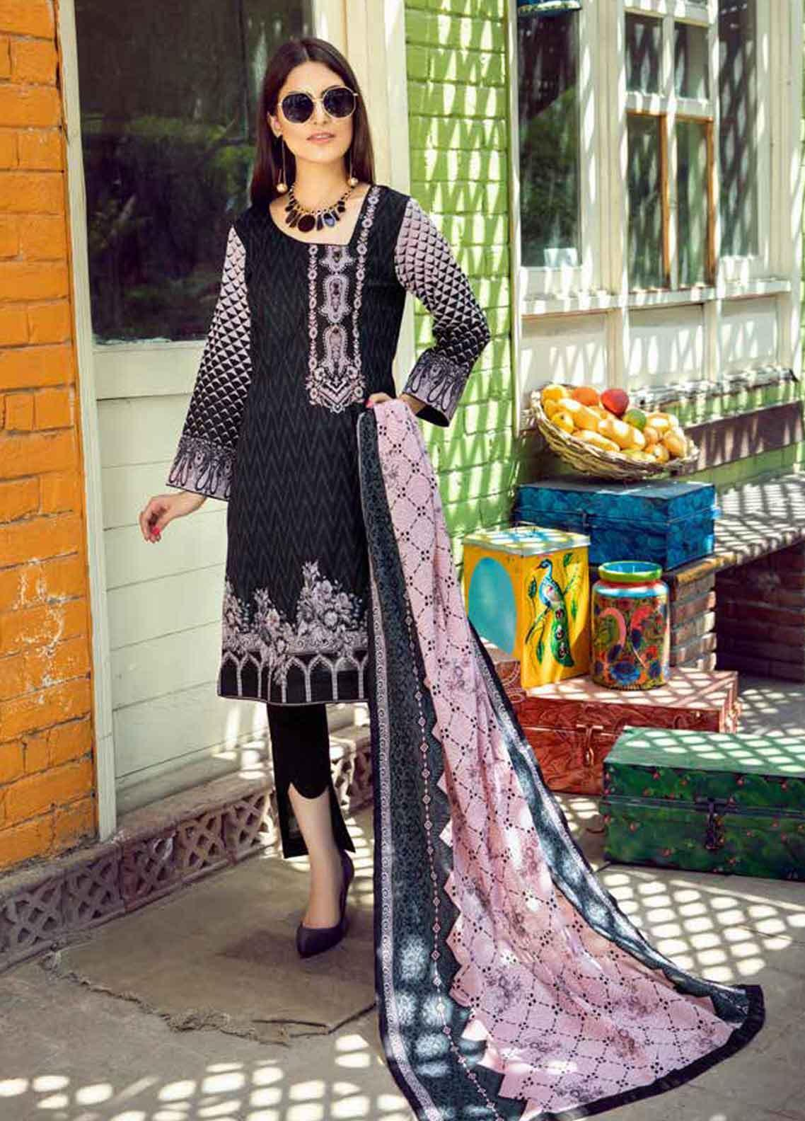 Monsoon by Al Zohaib Printed Lawn Unstitched 3 Piece Suit MN19-L3 4A - Mid Summer Collection