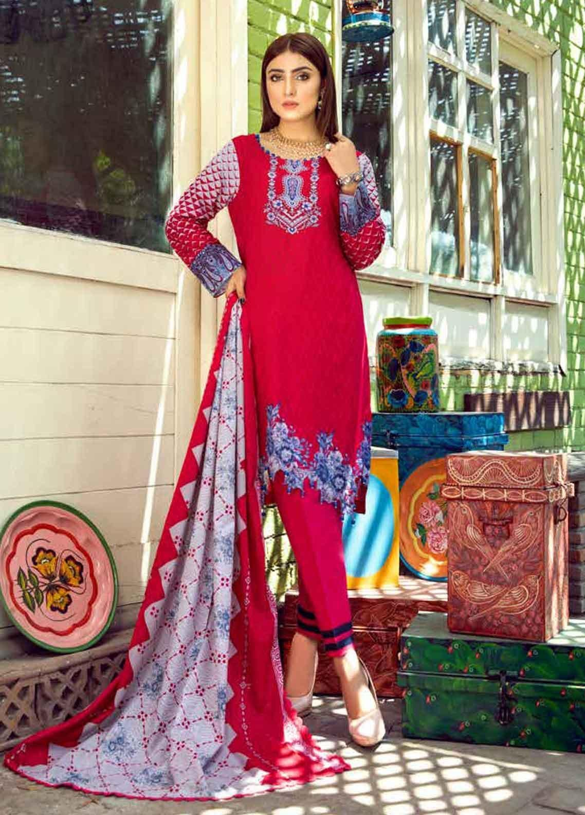 Monsoon by Al Zohaib Printed Lawn Unstitched 3 Piece Suit MN19-L3 4B - Mid Summer Collection