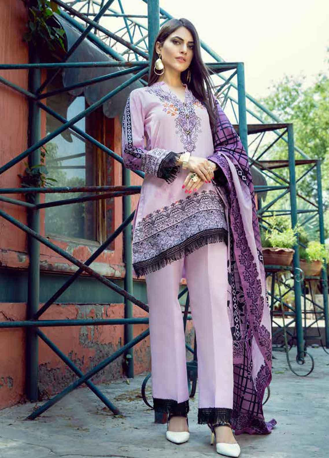 Monsoon by Al Zohaib Printed Lawn Unstitched 3 Piece Suit MN19-L3 5A - Mid Summer Collection