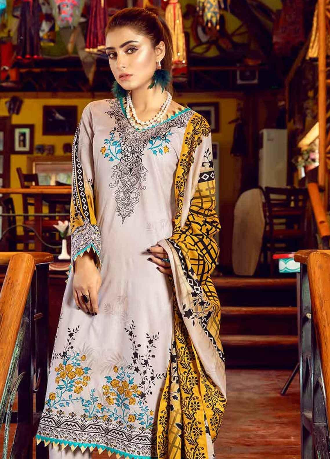 Monsoon by Al Zohaib Printed Lawn Unstitched 3 Piece Suit MN19-L3 5B - Mid Summer Collection