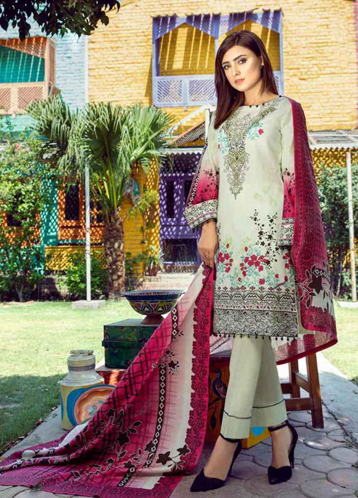 Monsoon by Al Zohaib Printed Lawn Unstitched 3 Piece Suit MN19-L3 5C - Mid Summer Collection