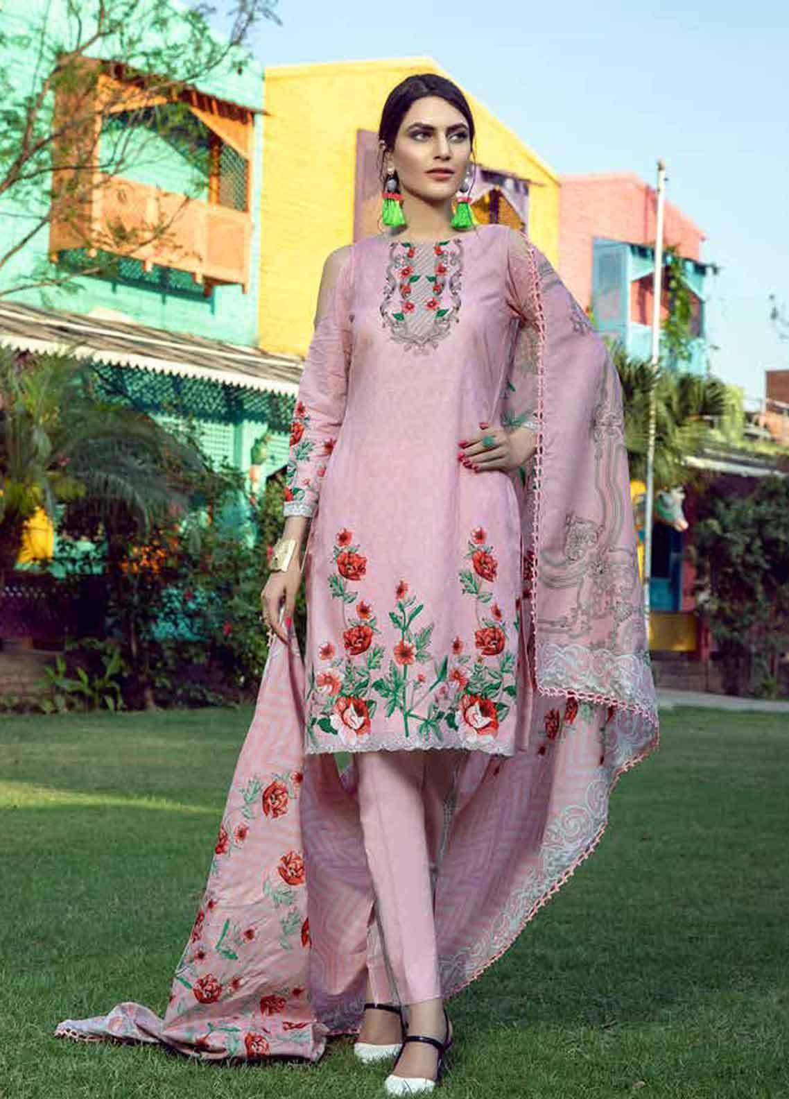 Monsoon by Al Zohaib Printed Lawn Unstitched 3 Piece Suit MN19-L3 7A - Mid Summer Collection