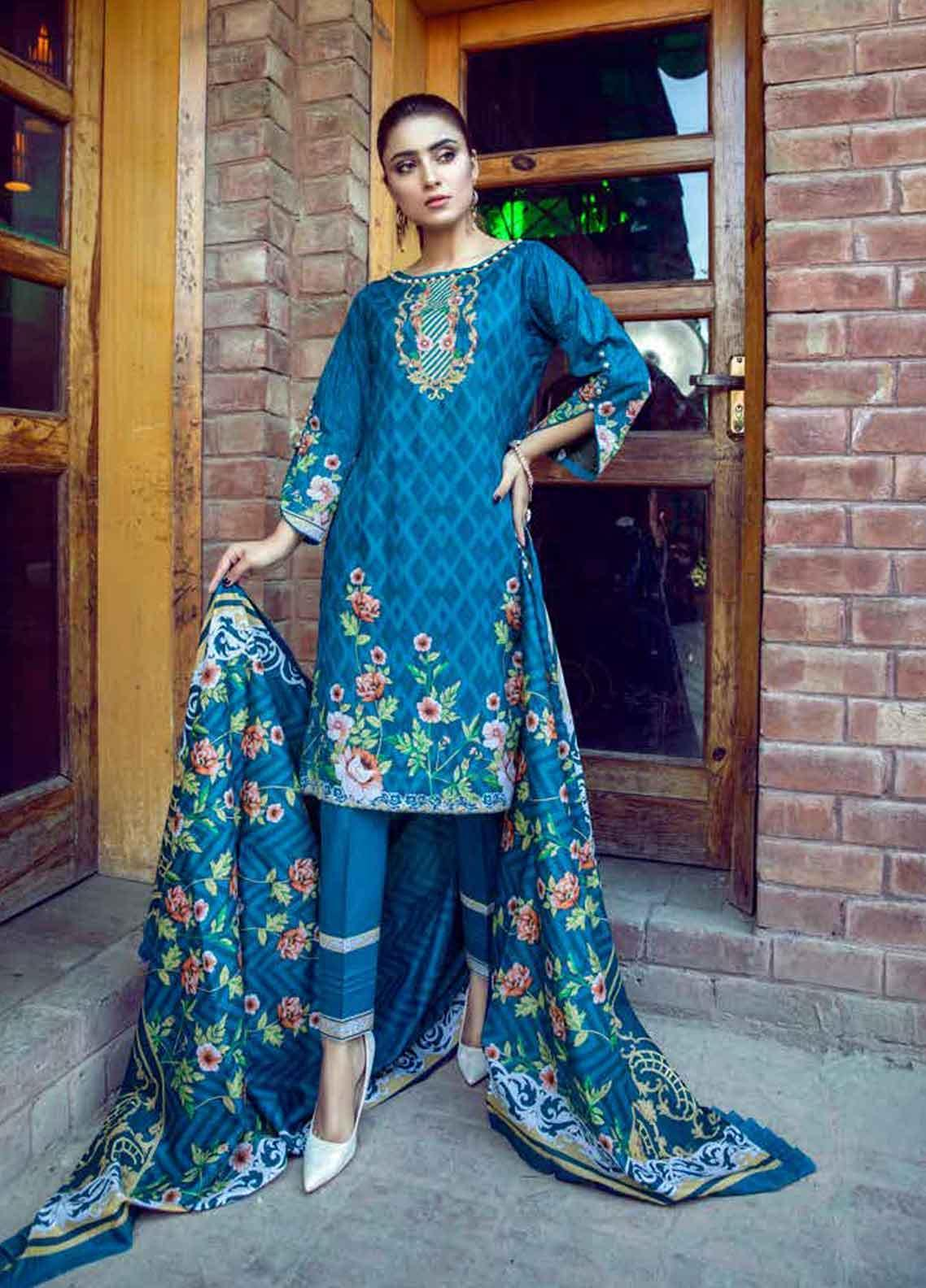 Monsoon by Al Zohaib Printed Lawn Unstitched 3 Piece Suit MN19-L3 7C - Mid Summer Collection