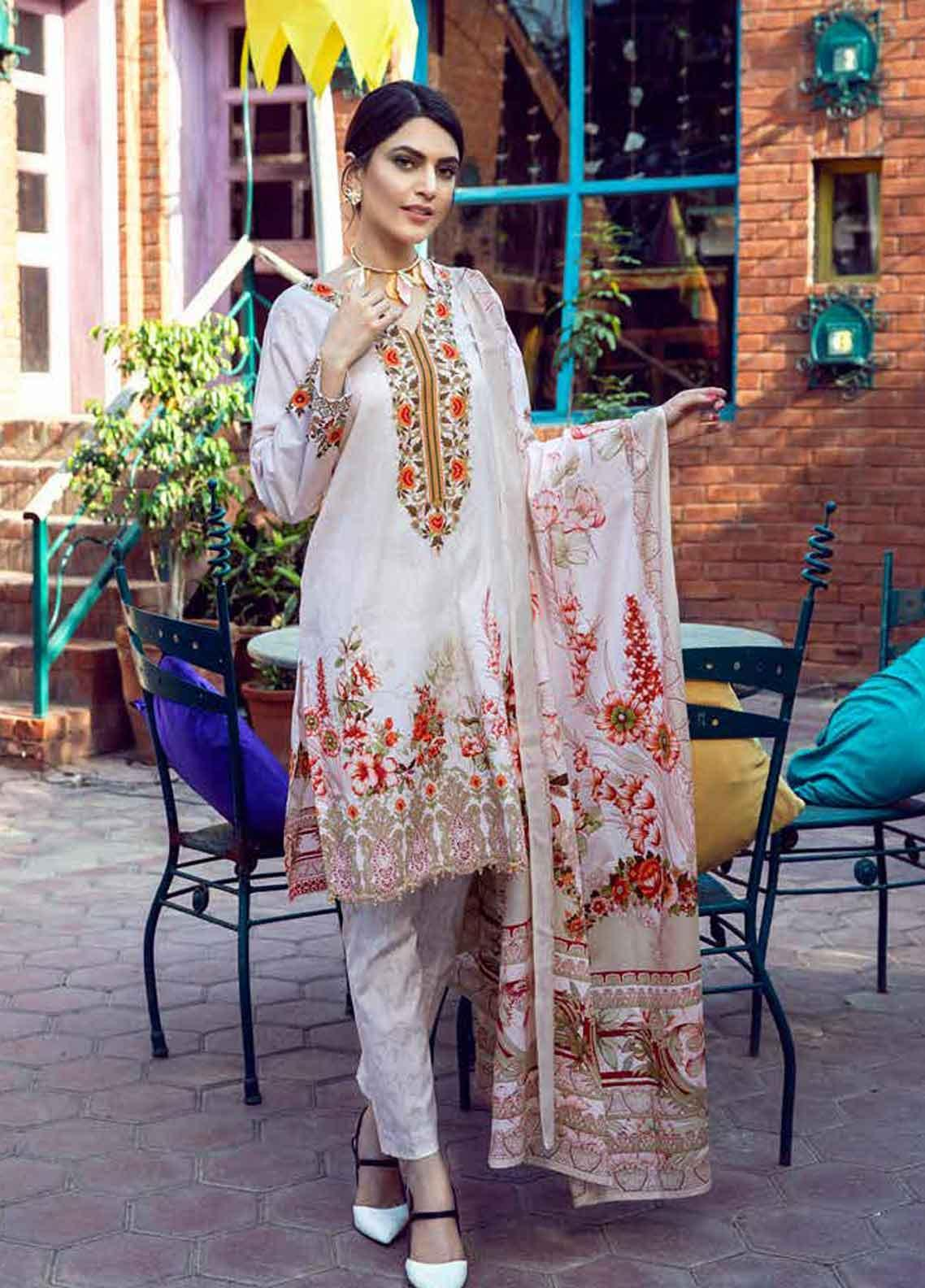 Monsoon by Al Zohaib Printed Lawn Unstitched 3 Piece Suit MN19-L3 8A - Mid Summer Collection