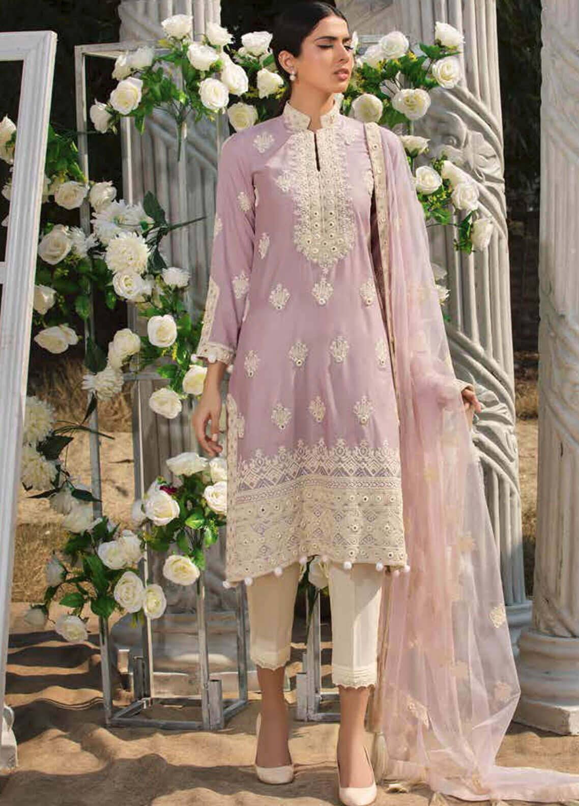 Motifz Embroidered Lawn Unstitched 3 Piece Suit MT19L 2202 MIRROR CRAFT - Spring / Summer Collection