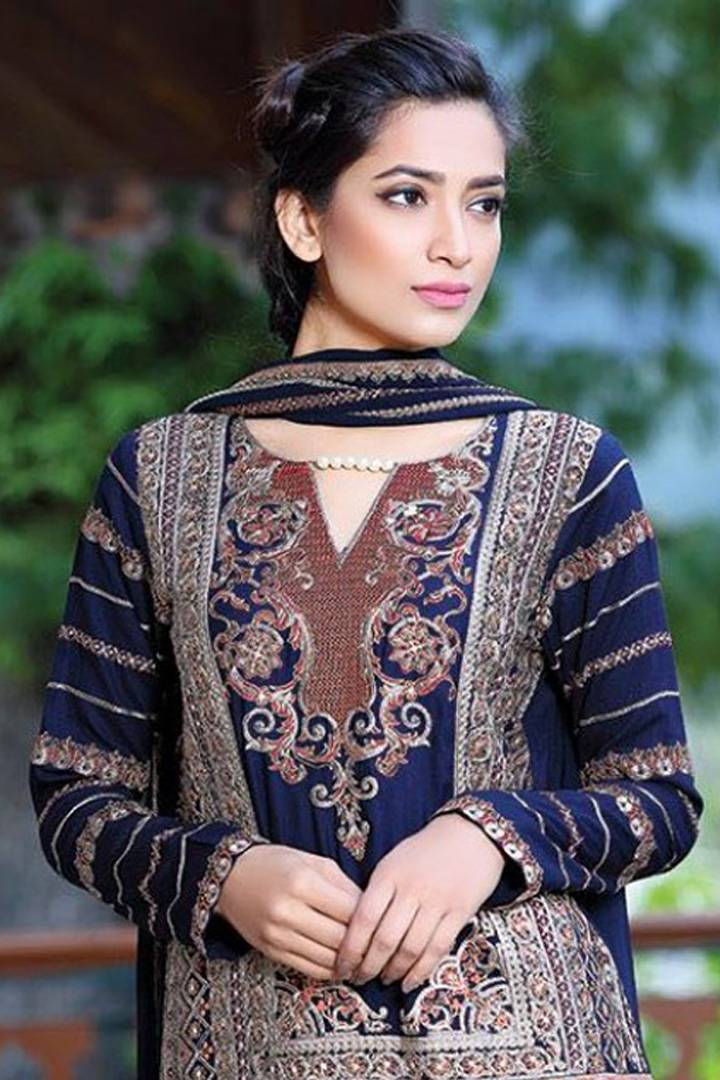 Motifz Embroidered Karandi Unstitched 3 Piece Suit MT16W 1511A