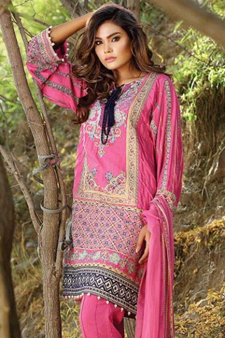 Motifz Embroidered Karandi Unstitched 3 Piece Suit MT16W 1511B