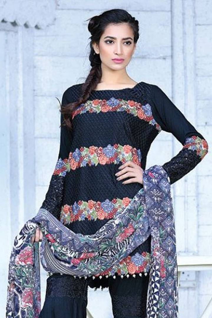 Motifz Embroidered Karandi Unstitched 3 Piece Suit MT16W 1512A