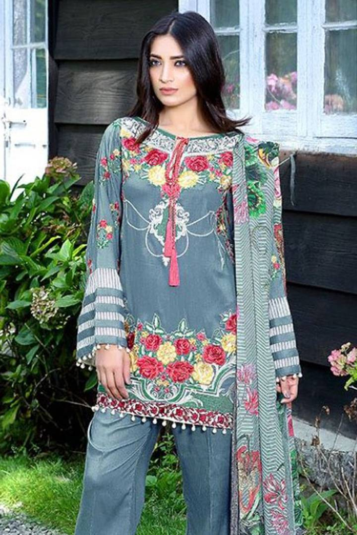 Motifz Embroidered Karandi Unstitched 3 Piece Suit MT16W 1513A