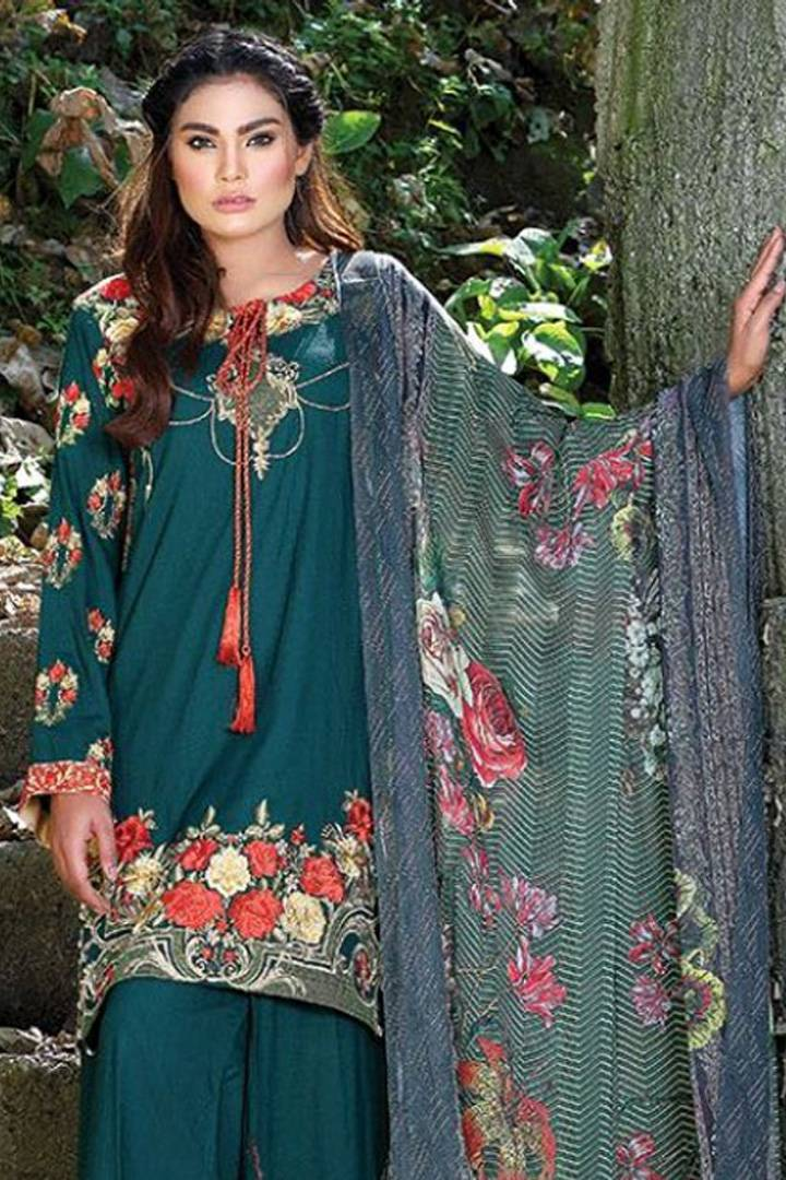 Motifz Embroidered Karandi Unstitched 3 Piece Suit MT16W 1513B