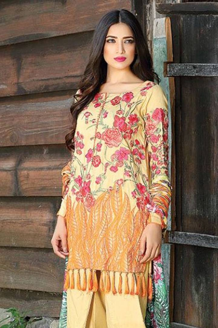 Motifz Embroidered Karandi Unstitched 3 Piece Suit MT16W 1514A