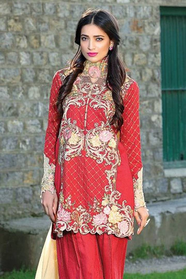 Motifz Embroidered Linen Unstitched 3 Piece Suit MT16W 1516A