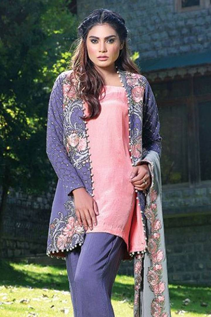Motifz Embroidered Karandi Unstitched 3 Piece Suit MT16W 1516B