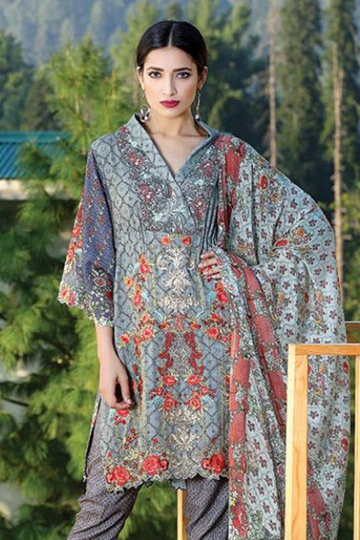 Motifz Embroidered Karandi Unstitched 3 Piece Suit MT16W 1527A