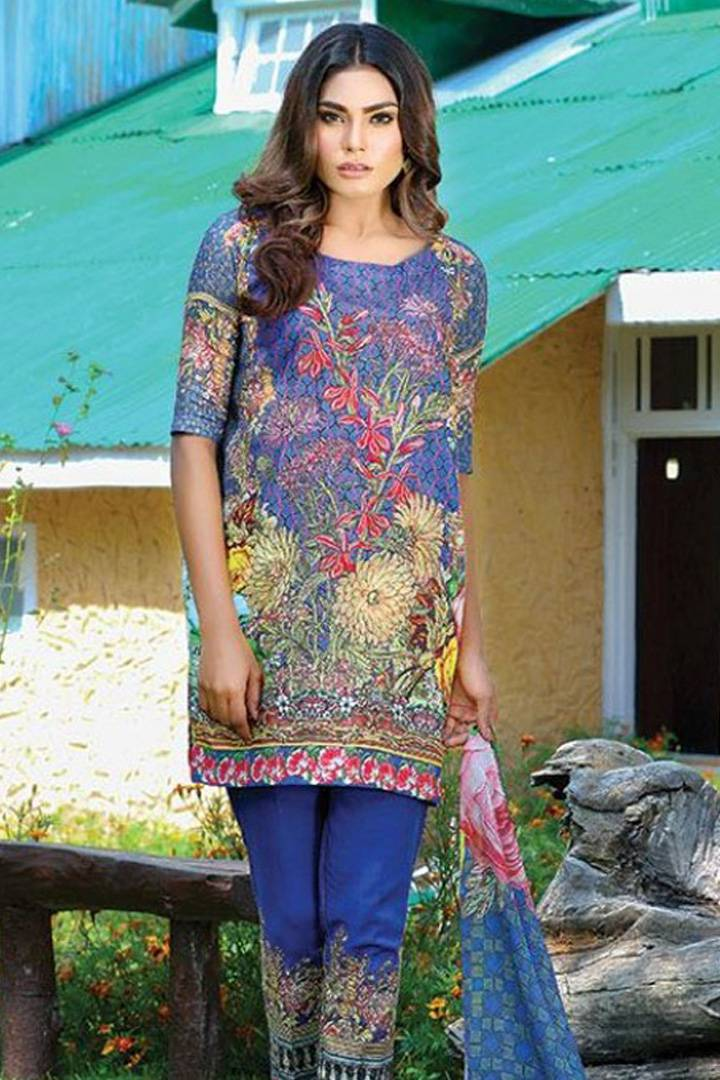Motifz Embroidered Karandi Unstitched 3 Piece Suit MT16W 1528B