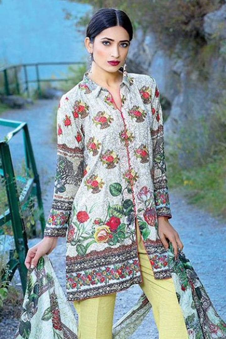 Motifz Embroidered Karandi Unstitched 3 Piece Suit MT16W 1532A