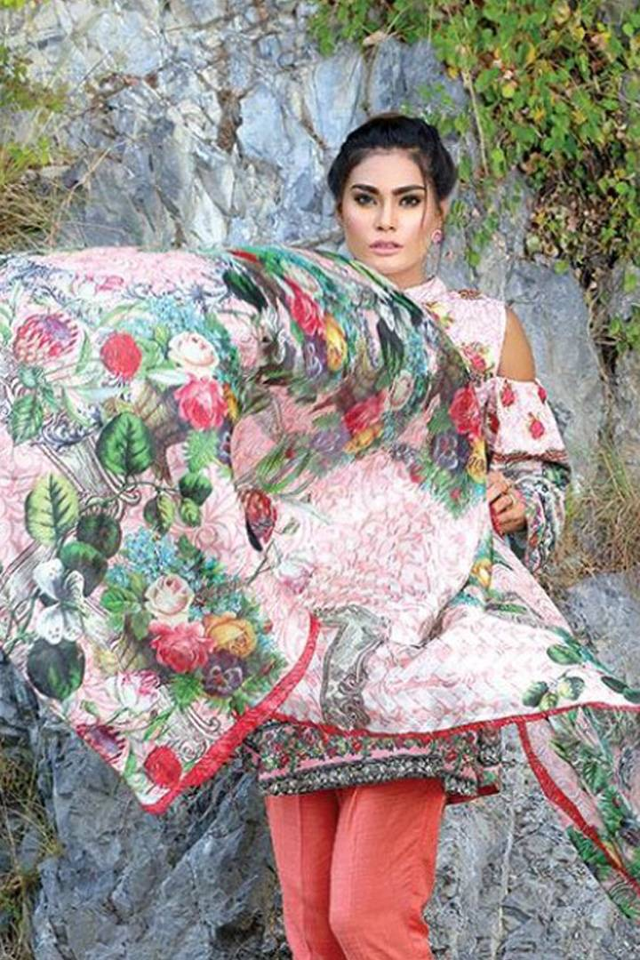Motifz Embroidered Karandi Unstitched 3 Piece Suit MT16W 1532B