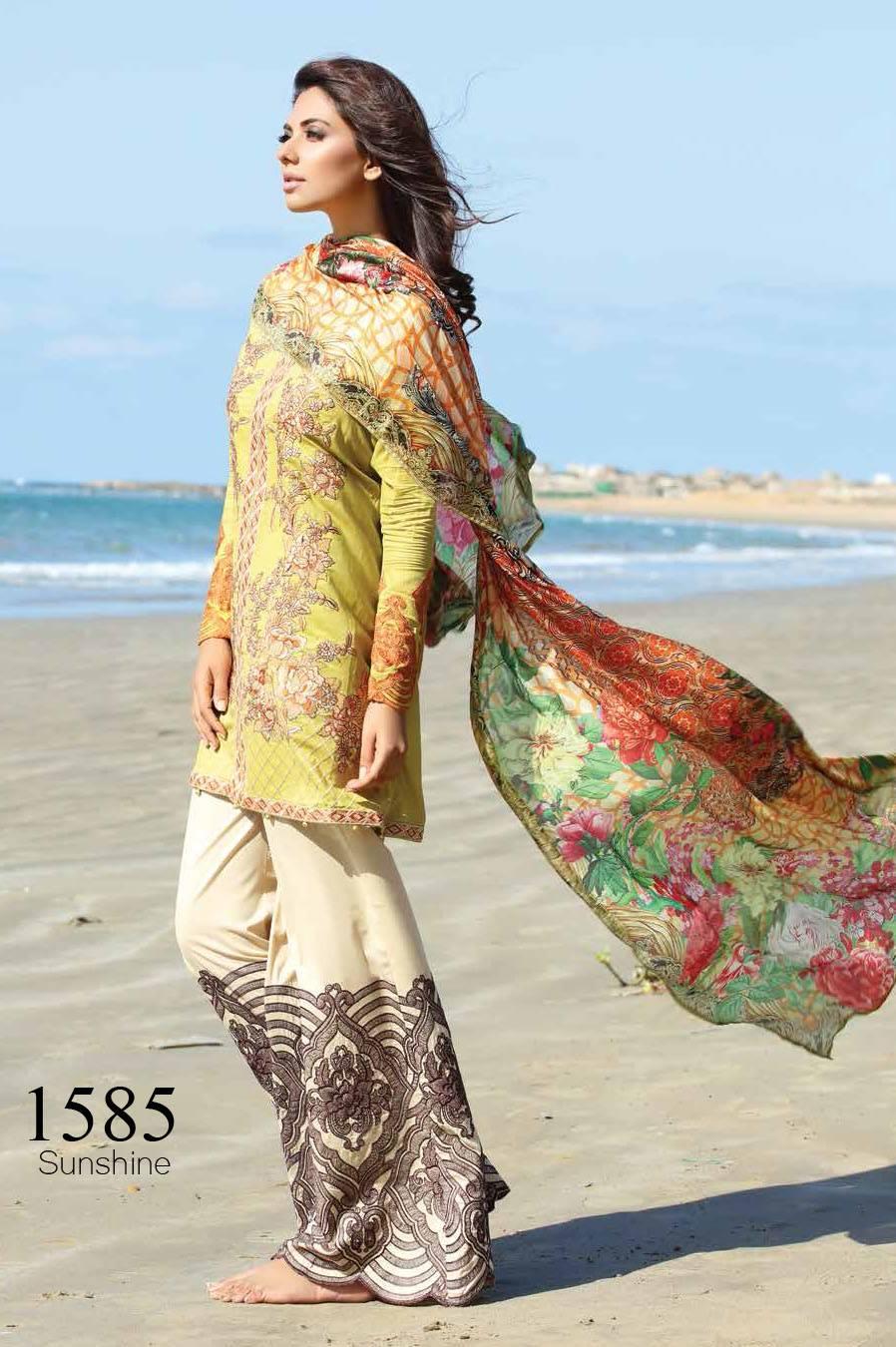 Motifz Embroidered Lawn Unstitched 3 Piece Suit MT17L 1585B