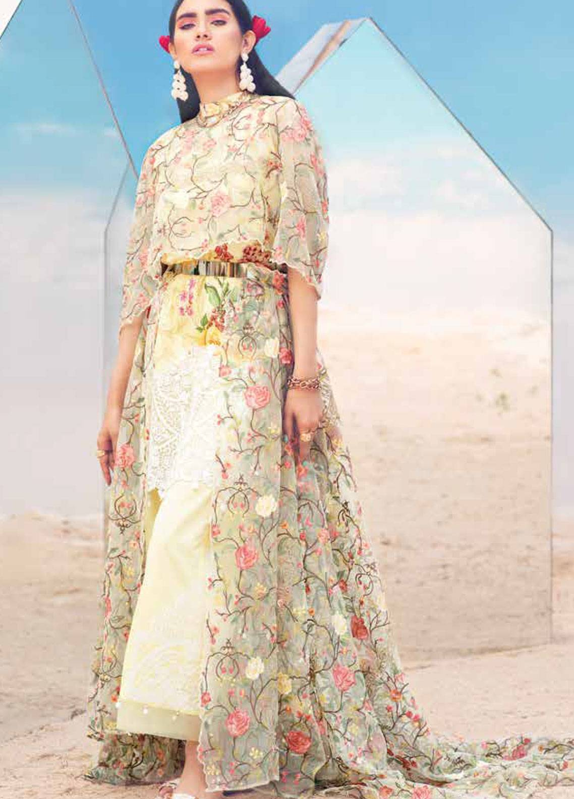 MusCari Embroidered Lawn Unstitched 3 Piece Suit MC19L 12 SUN SHOWER - Spring / Summer Collection