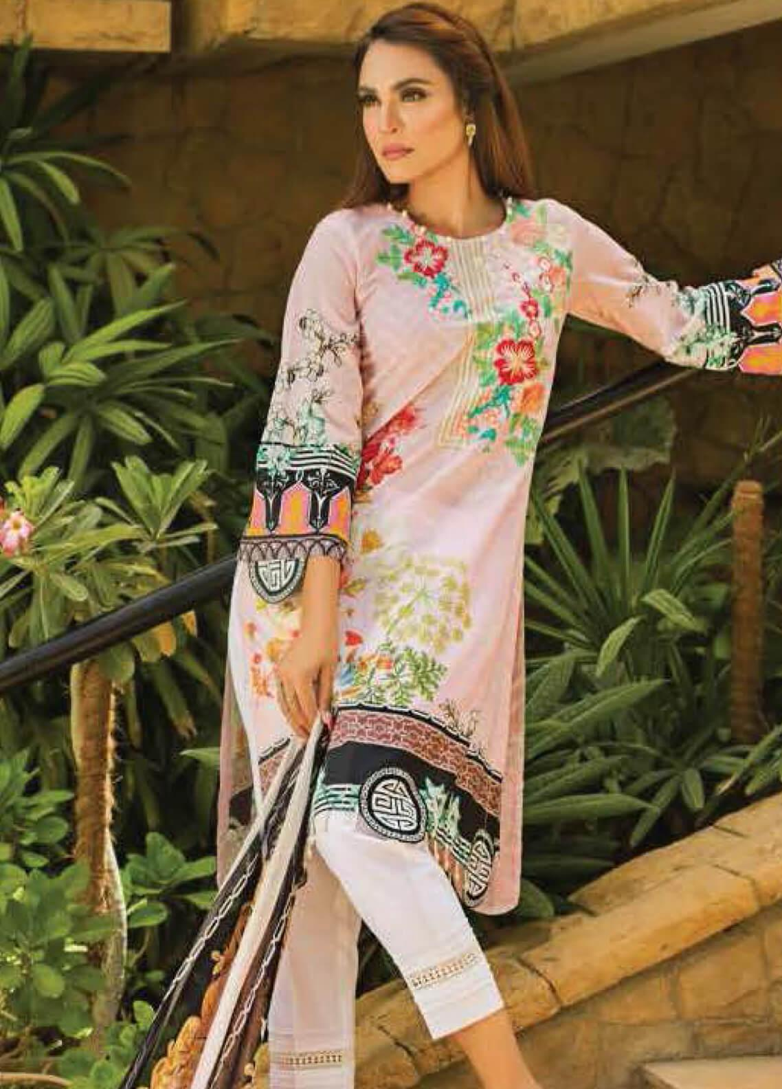 Nadia Hussain Embroidered Lawn Unstitched 3 Piece Suit NH19L 02 - Spring / Summer Collection