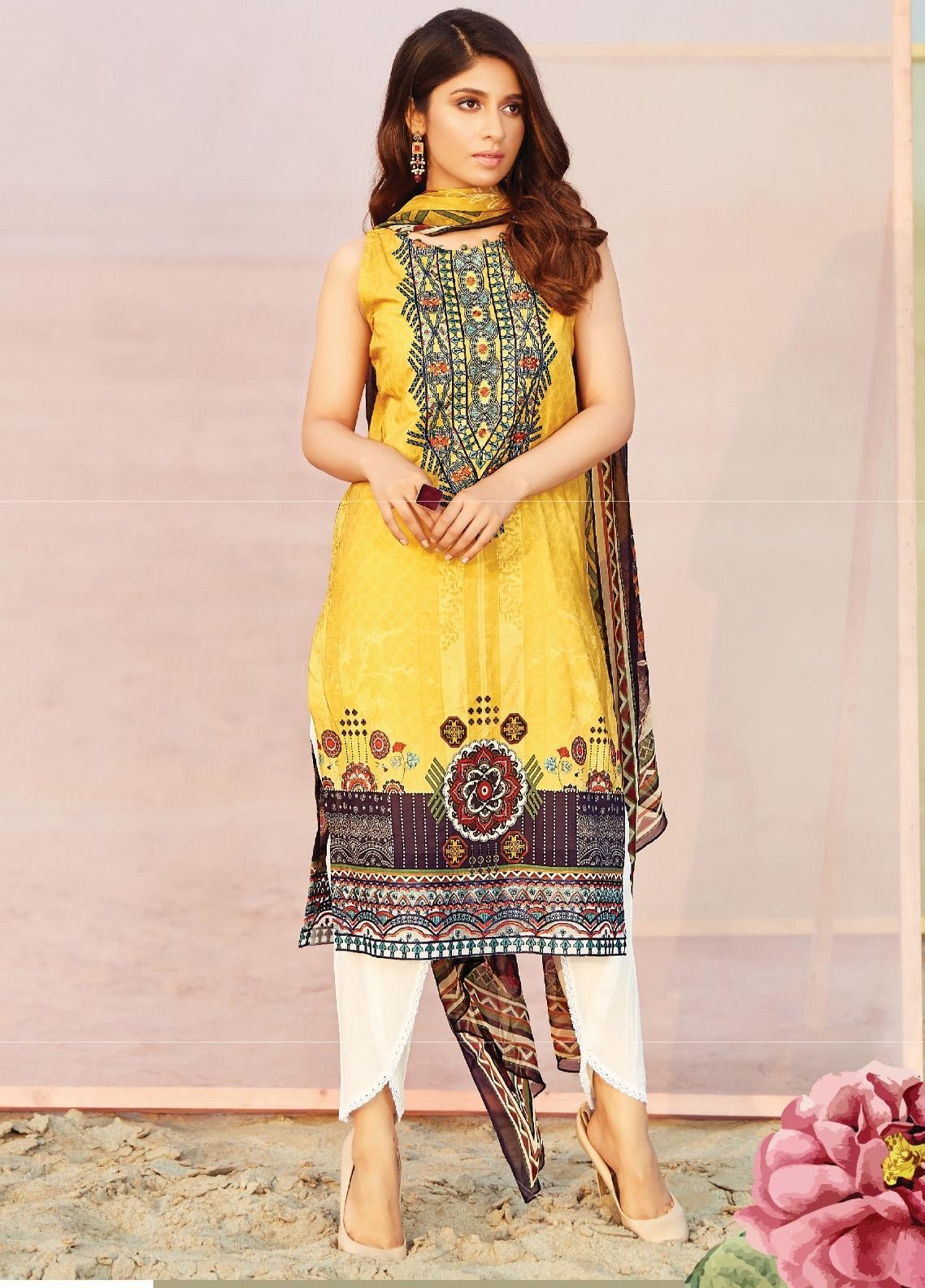 Naqsh by Florent Embroidered Lawn Unstitched 3 Piece Suit F20NQ 3B - Spring / Summer Collection