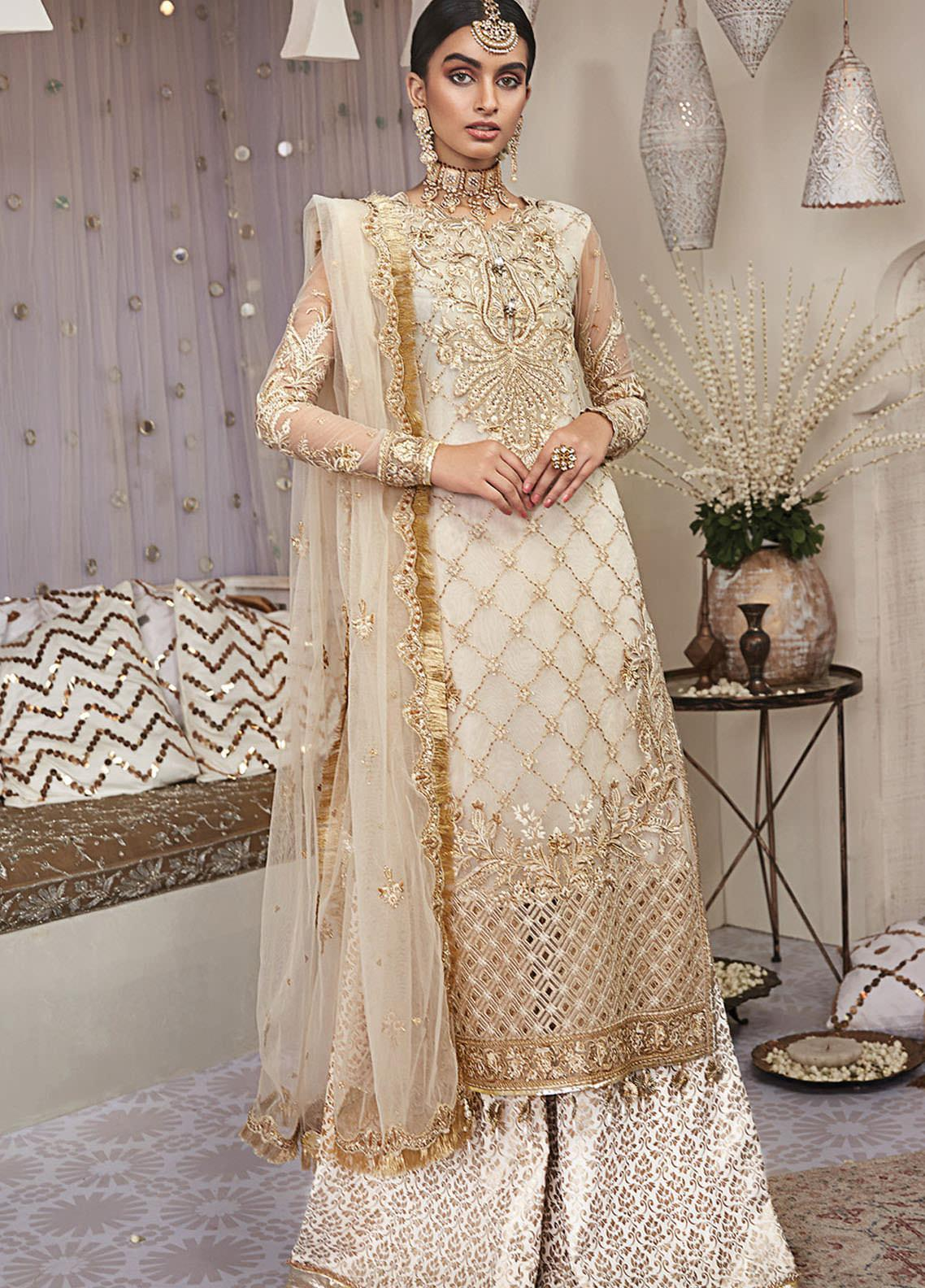 Nargis by Anaya Embroidered Net Unstitched 3 Piece Suit AKC20KR 03 Mehrbano - Wedding Collection