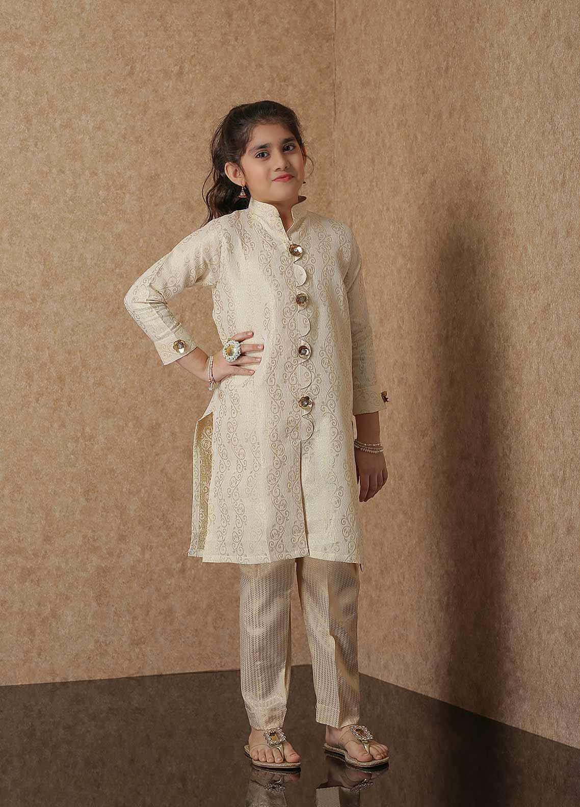 Nargis Shaheen Net Luxury 2 Piece Suit for Girls - NSK-021