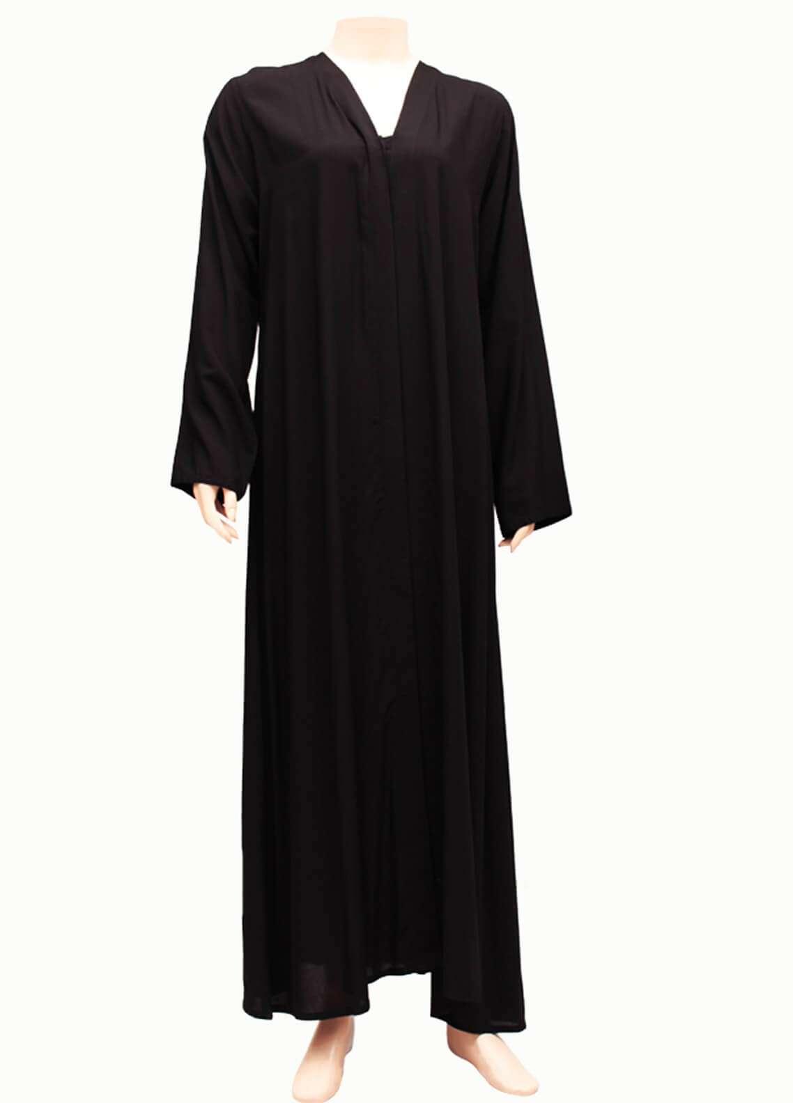 Hijab ul Hareem  Abayas New Stylish Designered Lawn Abaya 0116-P Black