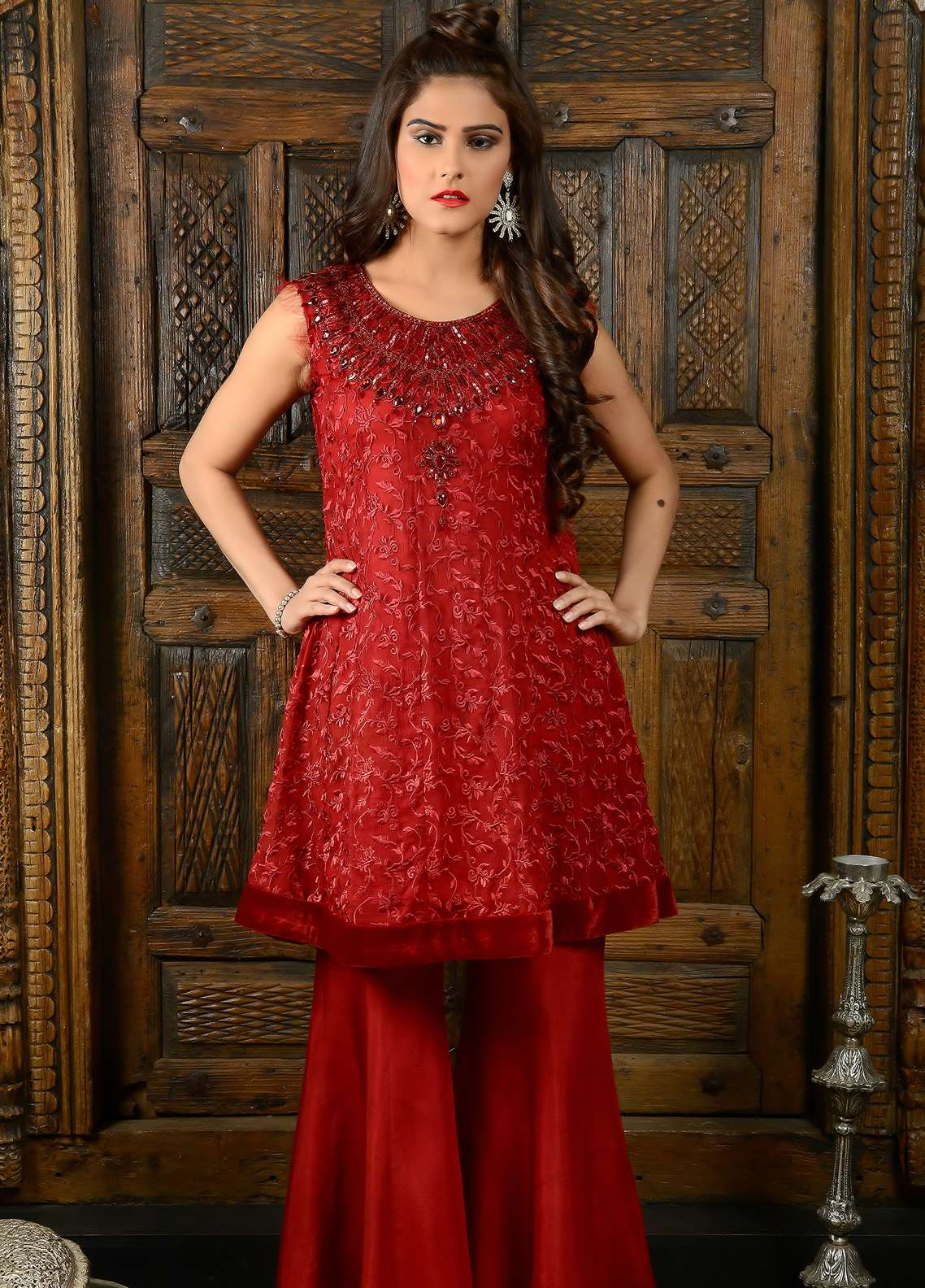 Naghma's Embroidered  Stitched 3 Piece Suit NGM18C 02