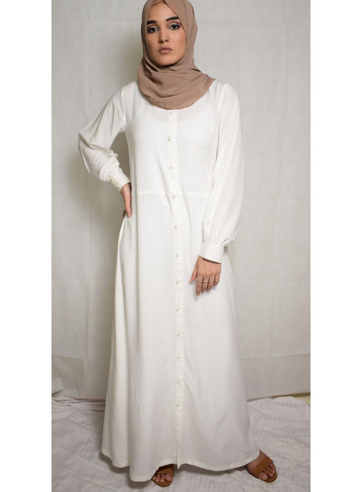 Nida Gul Fancy Cotton Stitched Maxi NG20MD D-302 Adara Maxi Dress with Hijab