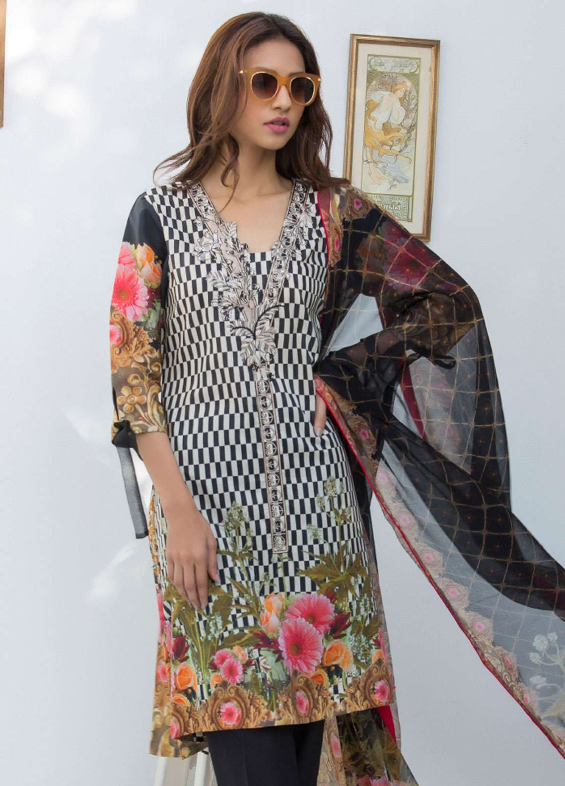 Nisha Bawany by Regalia Textiles Embroidered Lawn Unstitched 3 Piece Suit NB19L 7B - Spring / Summer Collection