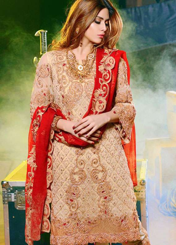 Noorma Kamal Embroidered Chiffon Unstitched 3 Piece Suit NK18C 01 - Formal Collection