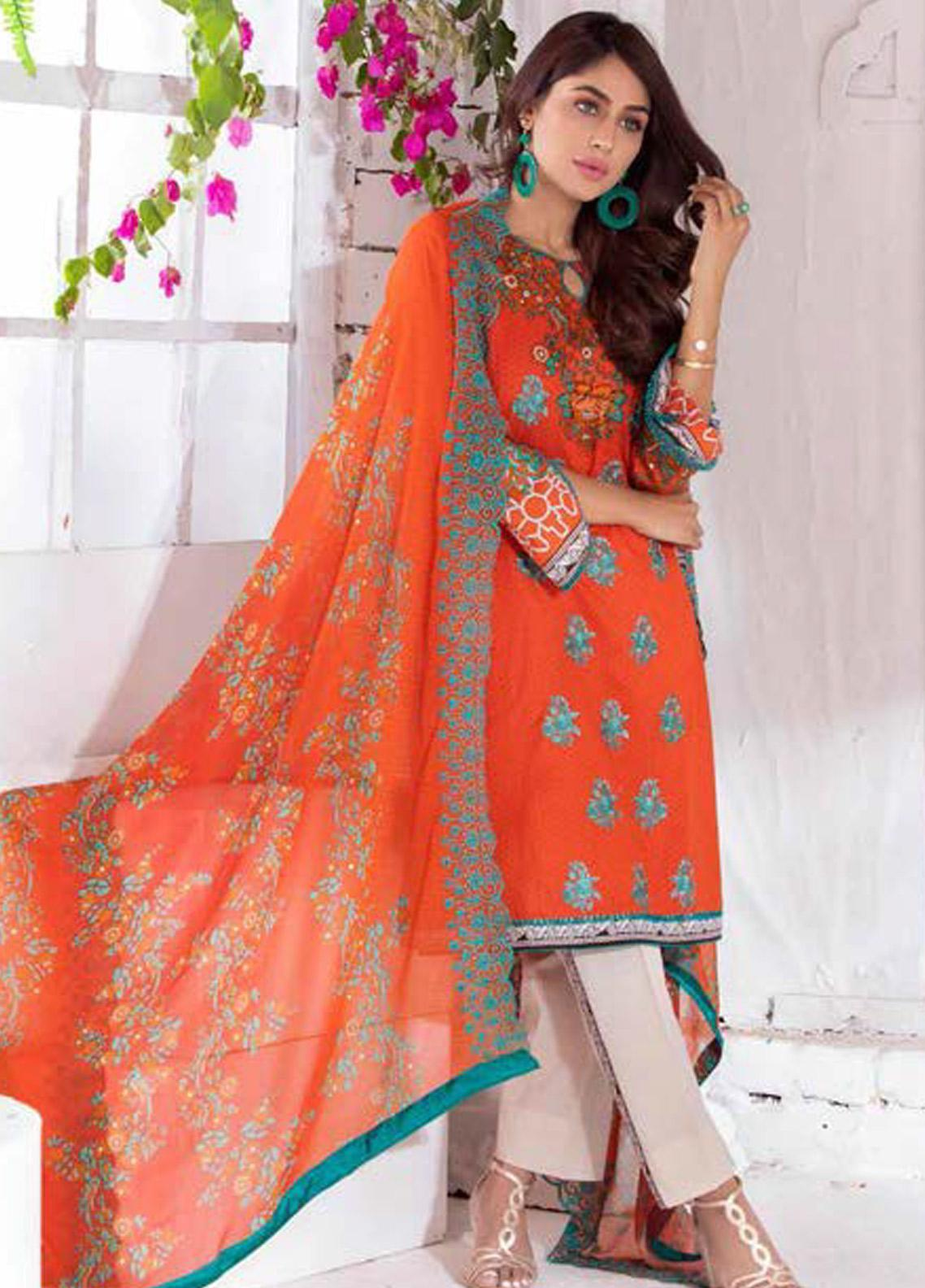Noor Jahan Embroidered Lawn Unstitched 3 Piece Suit NJ20P 9 - Spring / Summer Collection