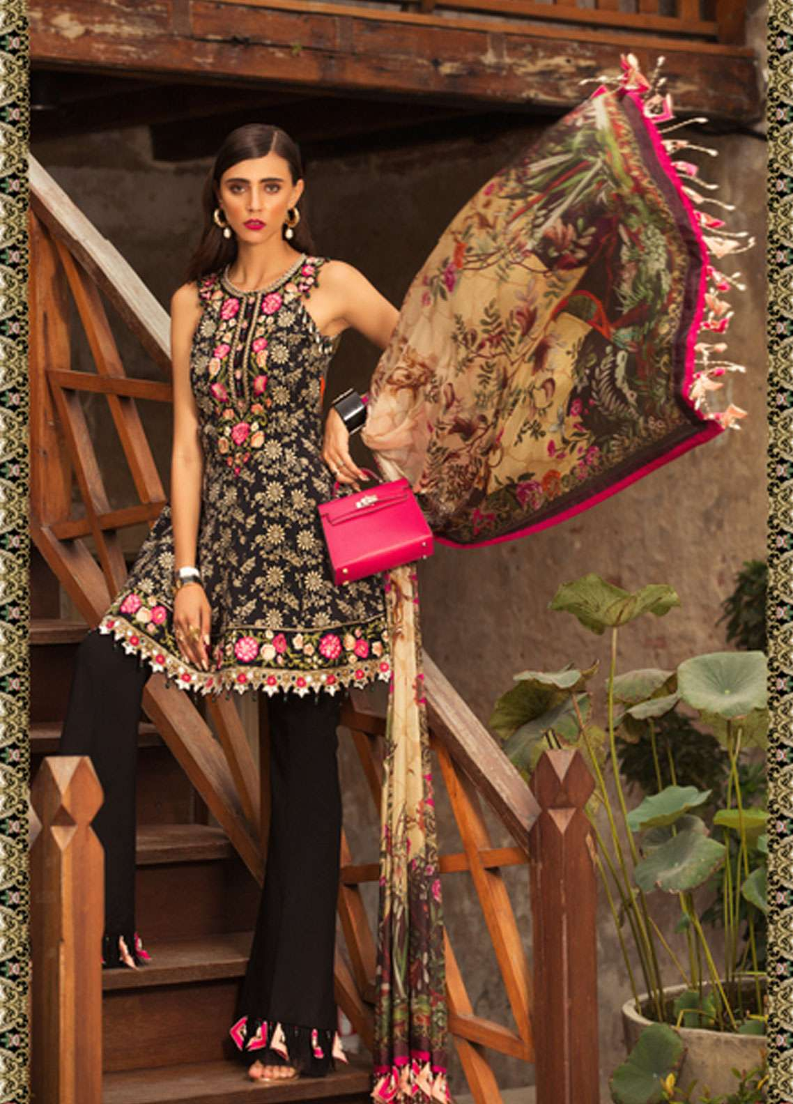 1c6ded1b52 Noor by Saadia Asad Embroidered Lawn Unstitched 3 Piece Suit NSA19L 12A -  Spring / Summer Collection