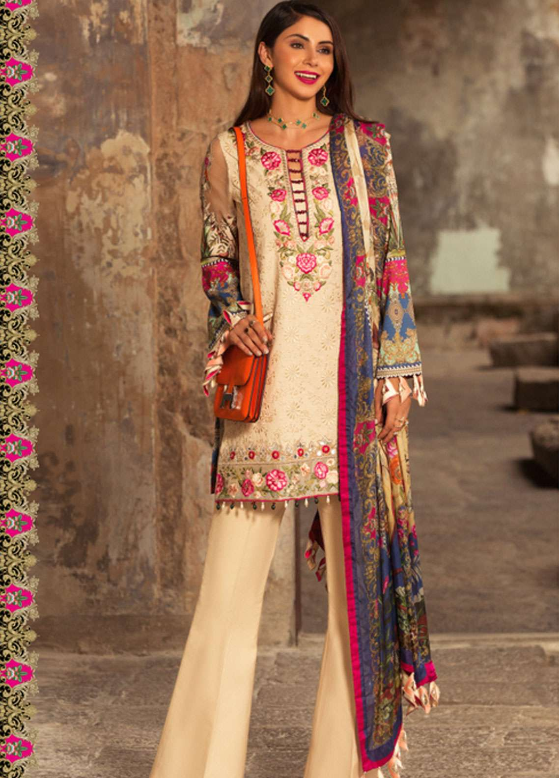 8ec14ae86f Noor by Saadia Asad Embroidered Lawn Unstitched 3 Piece Suit NSA19L 12B -  Spring / Summer