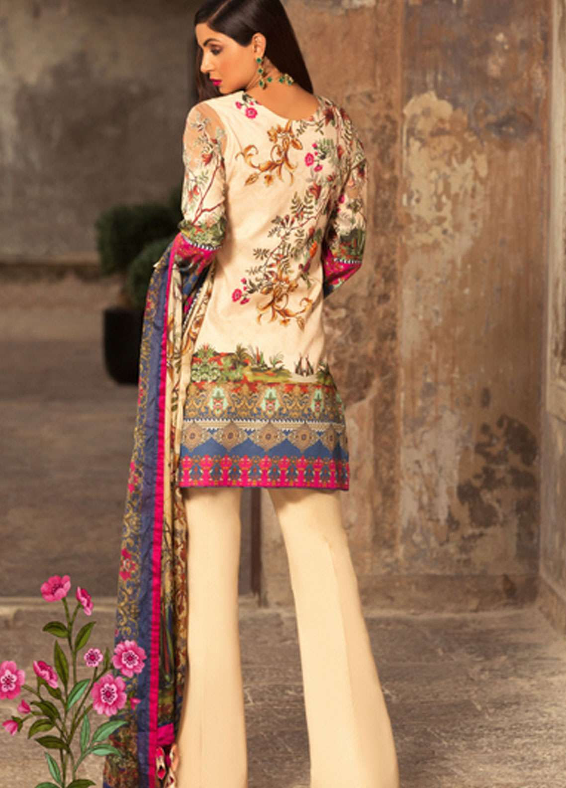 d2e99e1b54 Noor by Saadia Asad Embroidered Lawn Unstitched 3 Piece Suit NSA19L 12B -  Spring / Summer Collection