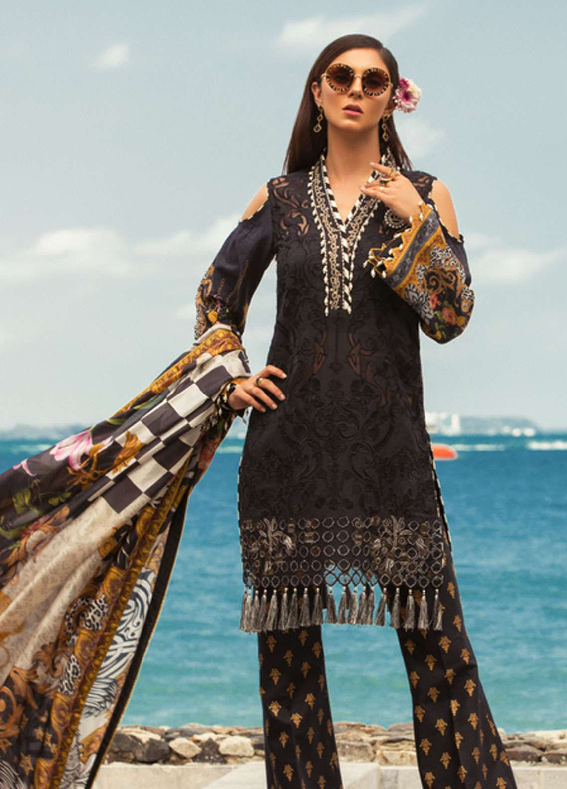 09fa241c1d Noor by Saadia Asad Embroidered Lawn Unstitched 3 Piece Suit NSA19L 5A -  Spring / Summer Collection