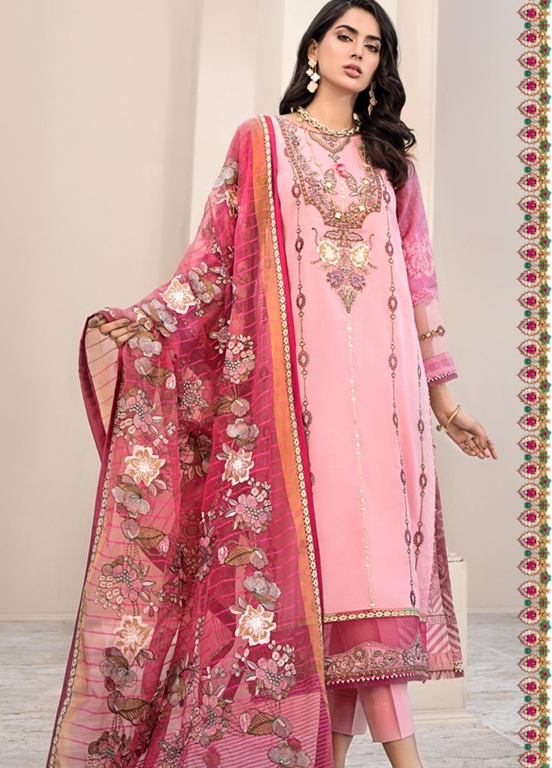 Noor by Saadia Asad Embroidered Lawn Unstitched 3 Piece Suit SA20NL D11 A - Luxury Collection