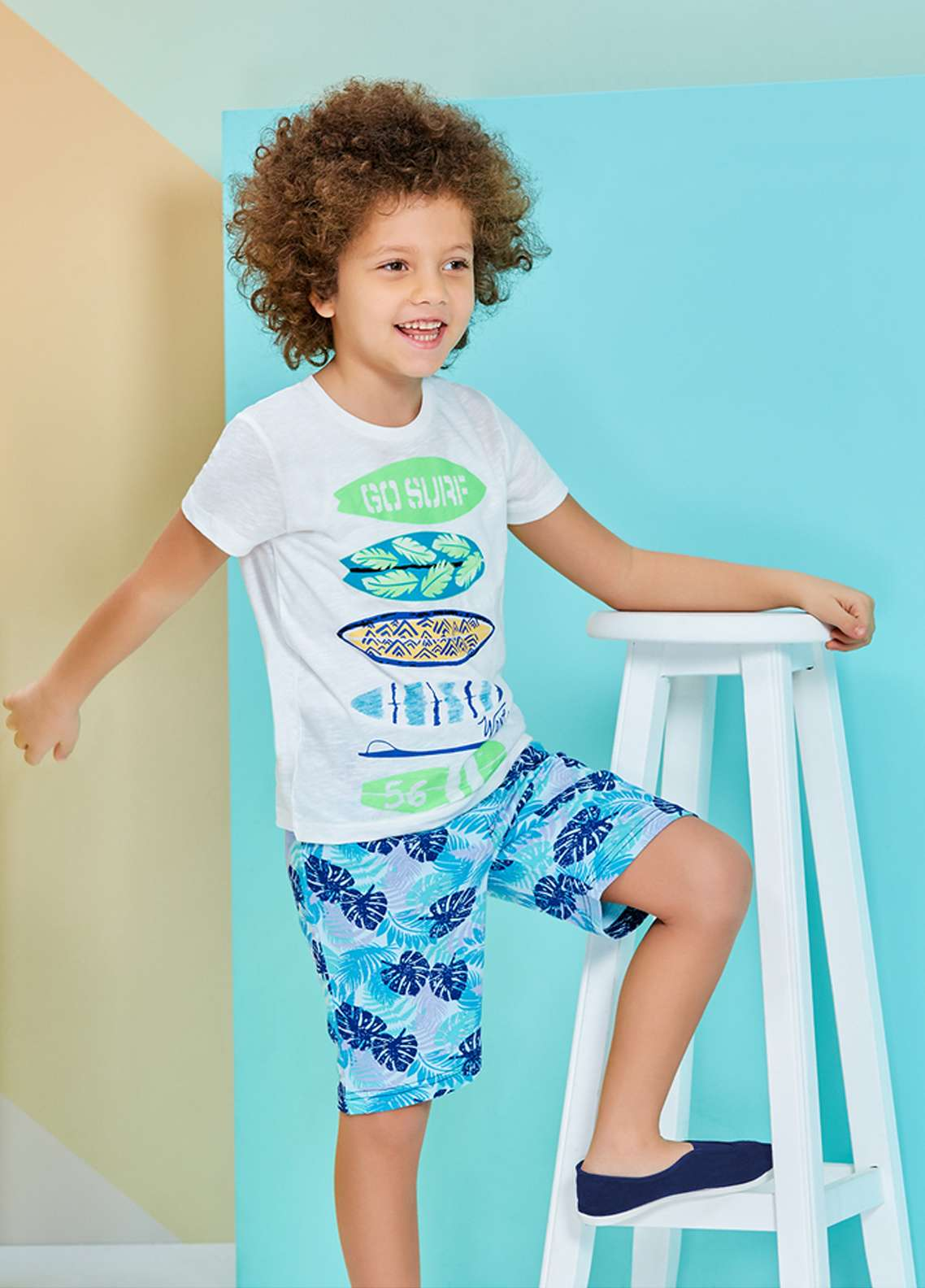 Cotton Net Nightwear for Kids 2 Piece NS18K 1221 WHITE