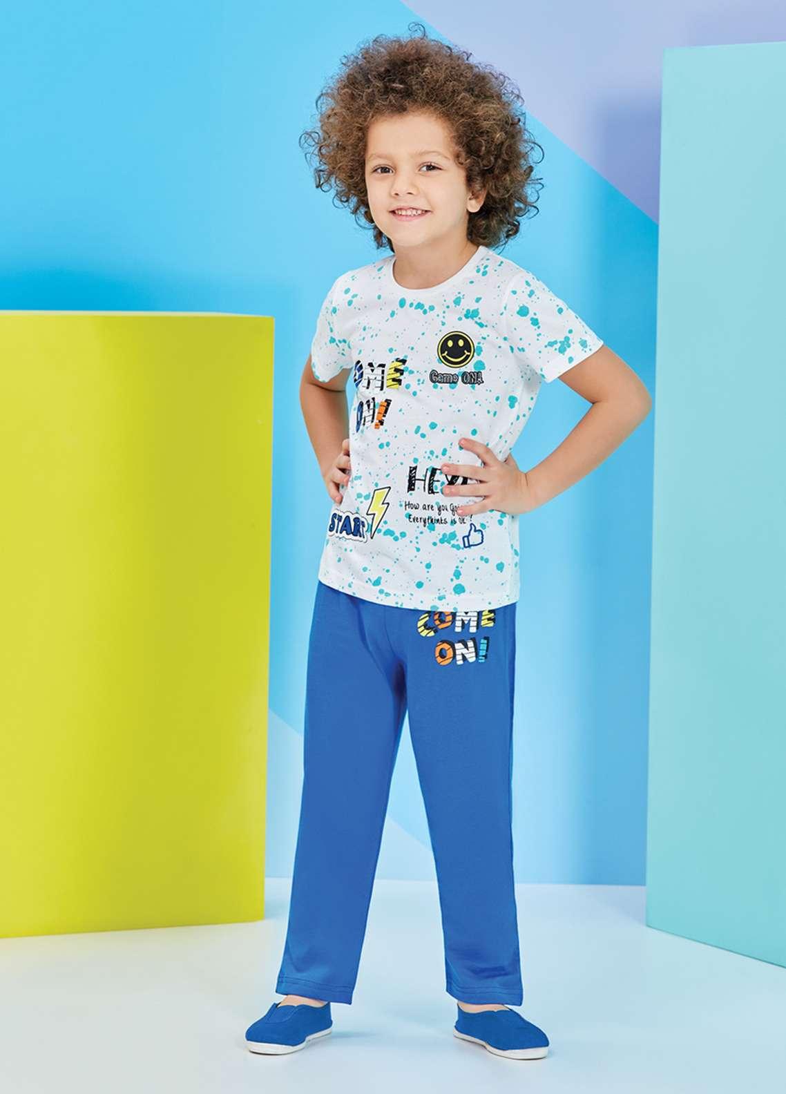 Cotton Net Nightwear for Kids 2 Piece NS18K 2203 BLUE