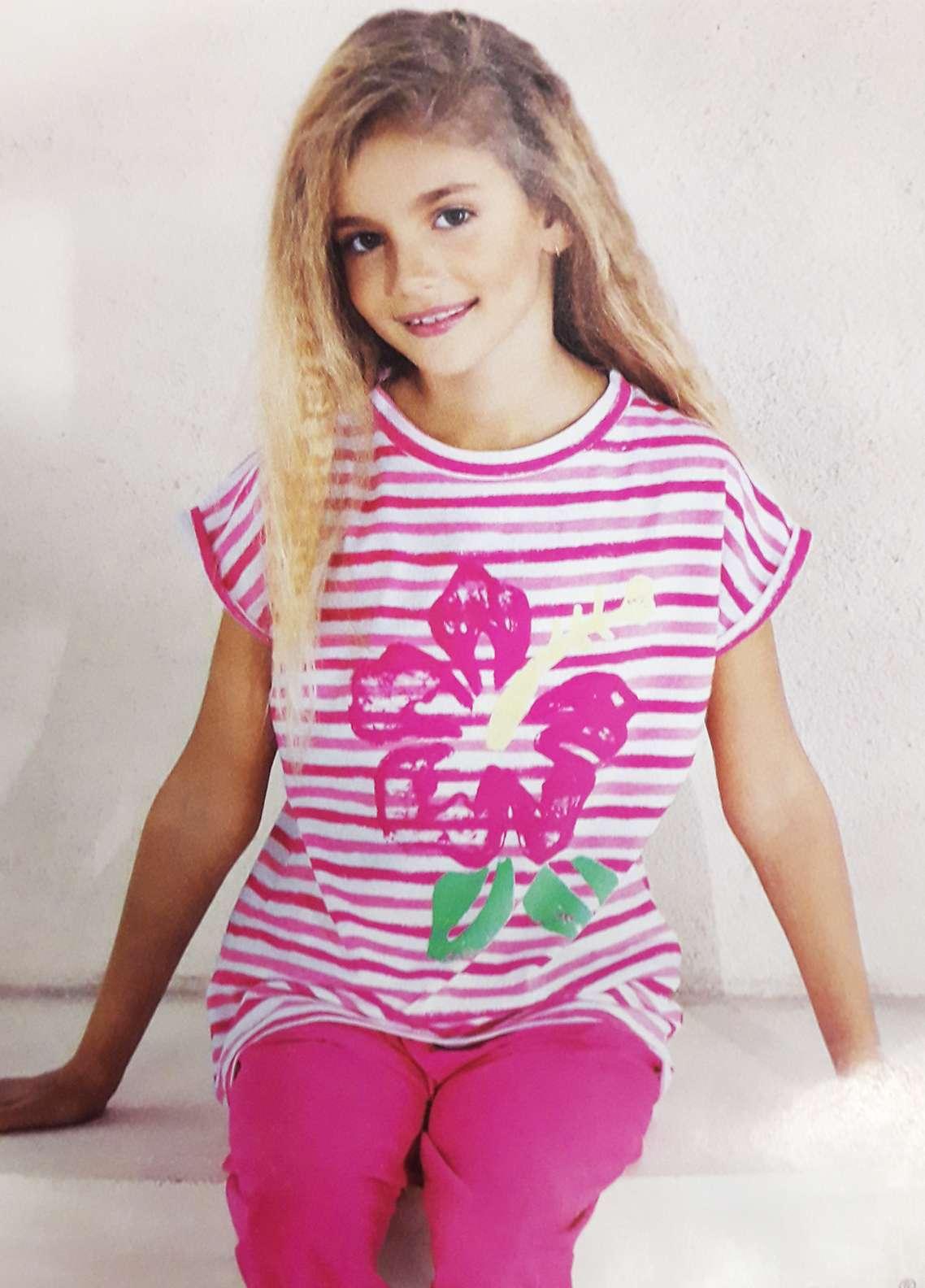 Cotton Net Nightwear for Kids 2 Piece NS18K 7505 PINK